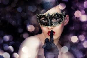 Colombina venetian masquerade mask