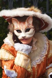 Gatto venetian masquerade mask