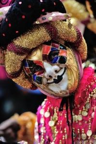 Harlequin venetian masquerade mask