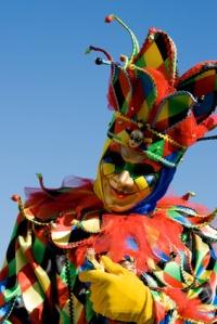 Jester venetian masquerade mask