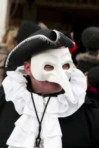 Nasone venetian masquerade mask