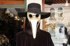 Pest doctor venetian mask